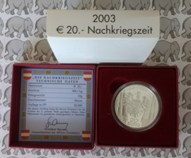 """Oostenrijk 20 euromunt 2003 """"Nachkriegszeit"""""""