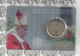 Vaticaan 50 eurocent 2021 in coincard, nummer 12