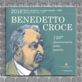 "Italië BU set 2016 ""Benedetto Croce"", inclusief 5 euromunt."