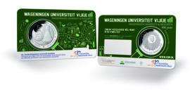 "Nederland 5 euromunt 2018 (40e) ""Wageningen Universiteit vijfje"" (BU, met nummer in coincard)"