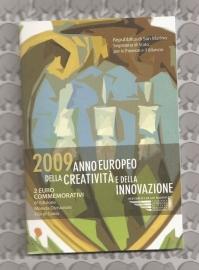 "San Marino 2 euromunt CC 2009 (6e)""Kreativität"" (in blister)"