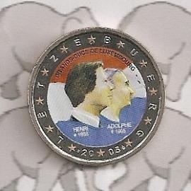 "Luxemburg 2 euromunt CC 2005 ""Henri & Adolphe"" (kleur)"