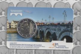 Nederland 2 euromunt 2017 met muntmeesterteken Sint Servaasbrug in coincard