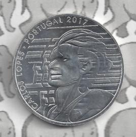 "Portugal 7,5 euromunt 2017 (6e) ""Carlos Lopez"""