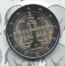 """Duitsland 2 euromunt CC 2016 """"Zwinger van Dresden, Saksen"""" (letter D)"""