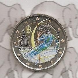"Italië 2 euromunt CC 2006 ""Olympische winterspelen"" (kleur)"