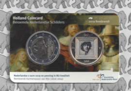 "Nederland Holland Coin Fair coincard 2019 ""Rembrandt"""