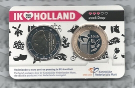 "Nederland Holland Coin Fair coincard 2016 ""Drop"""