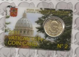 Vaticaan 50 eurocent 2011 in coincard, nummer 2