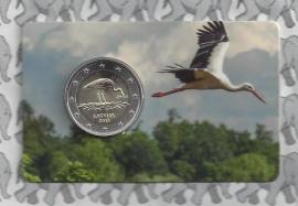"Letland 2 euromunt CC 2015 ""zwarte ooievaar"" (in coincard)"