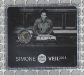 """Frankrijk 2 euromunt CC 2018 """"Simone Veil"""", in blister"""
