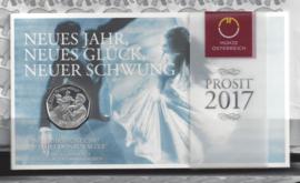 """Oostenrijk 5 euromunt 2017 (31e) """"150 jaar Donauwals"""" (zilver in blister)"""