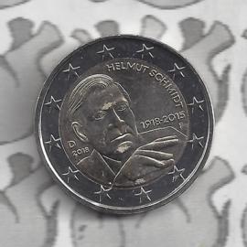 """Duitsland 2 euromunt CC 2018 (20e)""""100ste verjaardag van Helmut Schmidt"""" (letter F)"""
