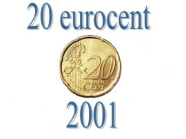 België 20 eurocent 2001