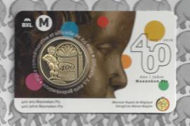 """België 2,5 euromunt 2019 """"400 jaar Manneken Pis"""" in coincard Franse versie"""