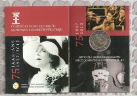 "België 2 euromunt CC 2012 ""75 jaar Elizabeth"" in blister"