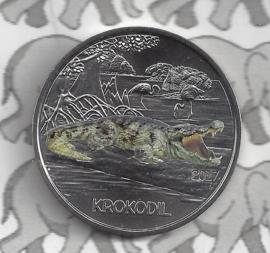 """Oostenrijk 3 euromunt 2017 """"Krokodil"""" (3 van 12)"""