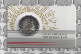 "Letland 2 euromunt CC 2019 (11e) ""Zonsopgang; het wapen van Letland"" (in coincard)"