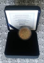 """Griekenland 2 euromunt CC 2021 (23e) """"200 Jaar Griekse Revolutie"""". Proof in doosje met certificaat"""
