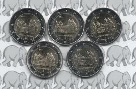 """Duitsland 2 euromunt CC 2014 """"St. Michaeliskirche te Hildesheim, Niedersachsen"""" (5 letters)"""