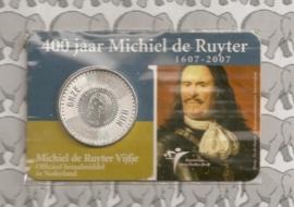 "Nederland 5 euromunt 2007 (11e) ""400 jaar Michiel de Ruyter"" (in coincard, zilver)"