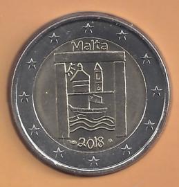 "Malta 2 euromunt CC 2018 ""Cultureel erfgoed"", met muntteken Monnaie de Paris."