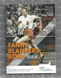 "Nederland 5 euromunt 2018 ""Fanny Blankers-Koen vijfje"" (zilver, proof in blister)"