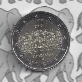 """Duitsland 2 euromunt CC 2019 """"70 Jaar Bondsraad"""" (letter A)"""