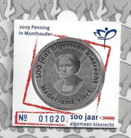 Nederland 100 jaar algemeen kiesrecht penning 2019 (muntmanifestatie)