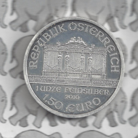 """Oostenrijk 1,5 euromunt 2010 """"Wiener Philharmoniker"""""""
