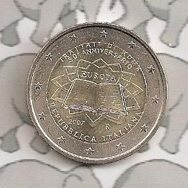 """Italië 2 euromunt CC 2007 (4e)""""Verdrag van Rome"""""""