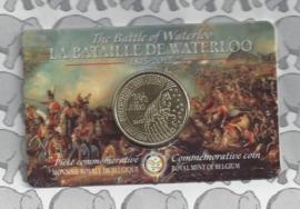 """België 2,5 euromunt 2015 """"de slag bij Waterloo"""" (in coincard, muntzijde ipv kopzijde aan Franse kant van coincard)"""