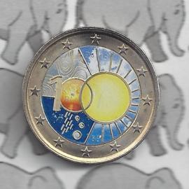 """België 2 euromunt CC 2013 """"100 jaar Koninklijke Meteorologisch Instituut"""" (kleur 3)"""