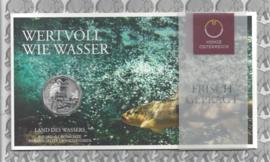 """Oostenrijk 5 euromunt 2013 (24e) """"Land des Wassers"""" (zilver in blister)"""