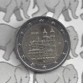 """Duitsland 2 euromunt CC 2021 (25e) """"Saksen-Anhalt (Kathedraal van Maagdenburg)"""" (letter J)"""