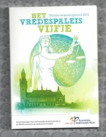 """Nederland 5 euromunt 2013 """"Vredespaleis"""" (zilver in blister)"""
