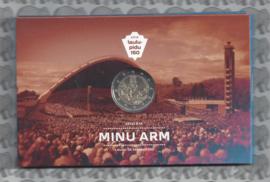 """Estland 2 euromunt CC 2019 (7e)""""150 Jaar Estisch Zangfeest""""  (in coincard)"""
