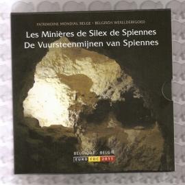 """België BU set 2011 """"De vuursteenmijnen van Spiennes"""""""