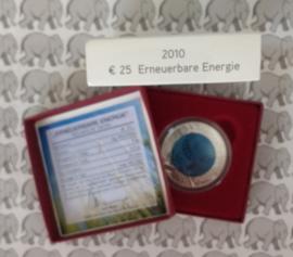 """Oostenrijk 25 euromunt 2010 """"hernieuwbare energie"""" (Niob)"""