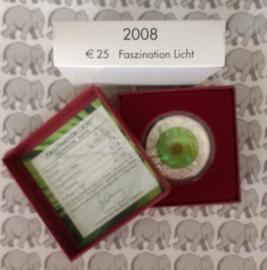 """Oostenrijk 25 euromunt 2008 """"Faszination licht"""" (Niob)"""