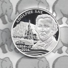 """België 10 euromunt 2014 (1e) """"Adolphe Sax"""""""