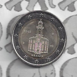 """Duitsland 2 euromunt CC 2015 """"Paulskirche in Frankfurt"""" (letter D)"""