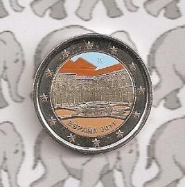 """Spanje 2 euromunt 2011 """"Alhambra in Granada"""" (kleur 1)"""