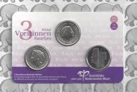 Nederland 3 Vorstinnen kwartjes 2017 in coincard