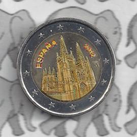 "Spanje 2 euromunt CC 2012 ""Burgos"" (kleur x)"