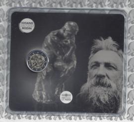 """Frankrijk 2 euromunt CC 2017 """"100 jaar na de dood van Auguste Rodin"""", in blister"""
