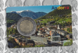Andorra standaard 2 euromunt 2015 in coincard