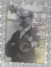 "Griekenland 2 euromunt CC 2017 ""60 jaar in memoriam Nikos Kazantzakis"", in blister"