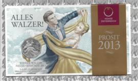 "Oostenrijk 5 euromunt 2013 (23e) ""Wiener Walzer"" (zilver in blister)"