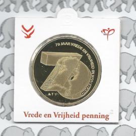 """Nederland munthouder 2015 """"Vrede en vrijheid"""""""